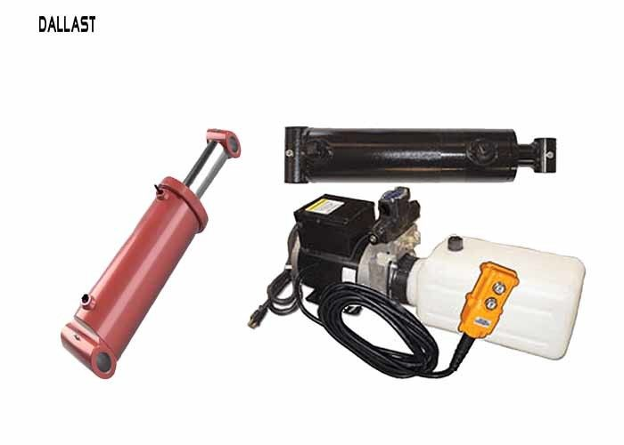 12 Volt Hydraulic Power Pack  with 2 Hydraulic Rams Hoses and Fitting Kit with Pendant